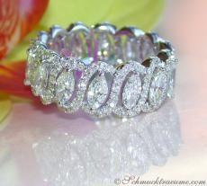 Brillanten Memory Ring mit Marquise Diamanten