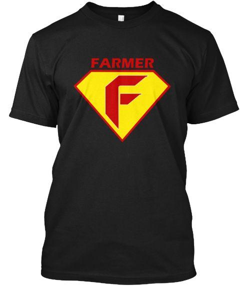 Farmer Do It Better Black T-Shirt Front