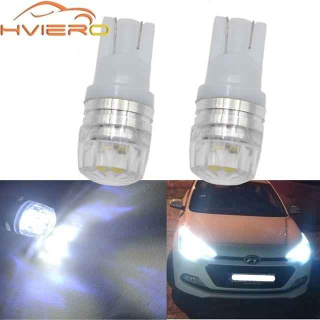 2x T10 W5w 194 Blue White Car Led Parking Bulb Auto Led Wedge Turn Signal Light Side Marker Lamp Tail Light Backup Bulb Dc 12v Review Car Led Bulb White Car
