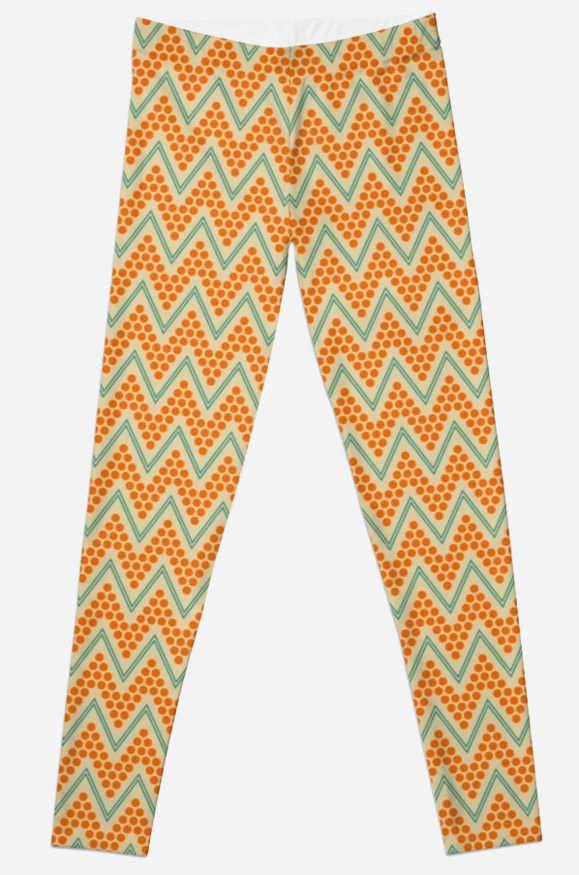 Geometric chevron pattern by LunaPrincino #lunaprincino #redbubble #print #prints #art #design #designer #graphic #clothes #for #women #apparel #shopping #leggings #bottom #sport #yoga #fashion #style #pattern #chevron #zigzag #geometric #geometry #ornament #lines #dots #trendy #beige #orange #teal #turquoise