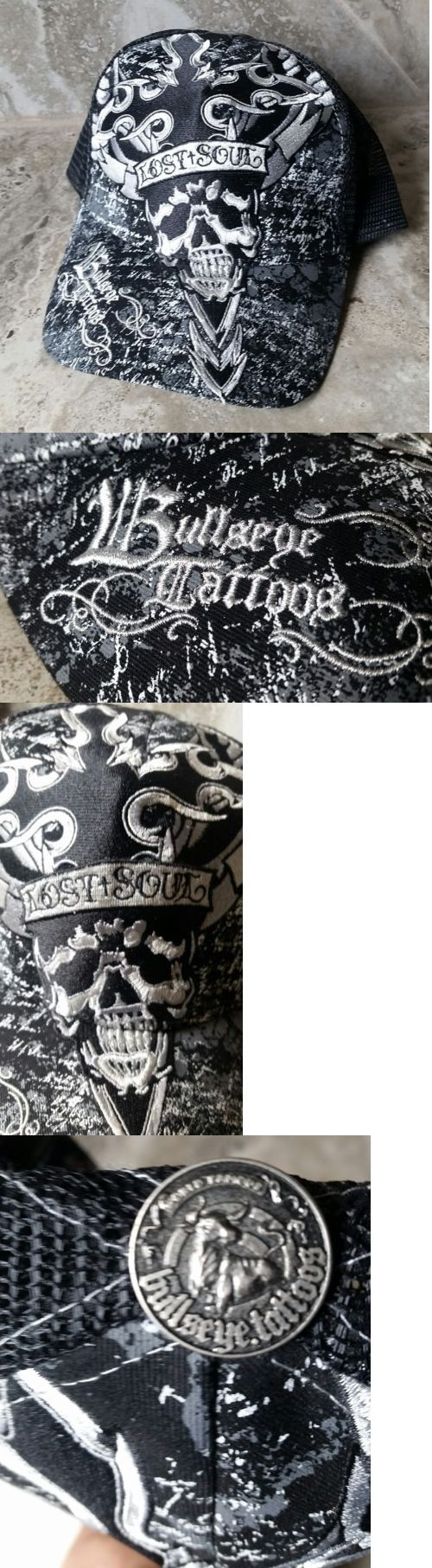 Hats and Headwear 159078: New Bullseye Tattoos Lost Soul Black Trucker Hat Snap Back -> BUY IT NOW ONLY: $30 on eBay!