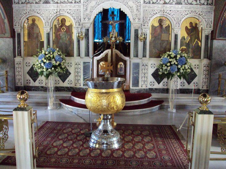 Ανθοστολισμός γάμου - βάφτισης στον Αγ.Νικόλαο στην Γλυφάδα #lesfleuristes #λουλούδια #ανθοσύνθεση #ανθοπωλείο #γλυφάδα #γάμος #βάφτιση #νύφη #δεξίωση