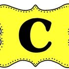 CAFE Bulletin Board Signs that are easy to see and read for you and your students!...