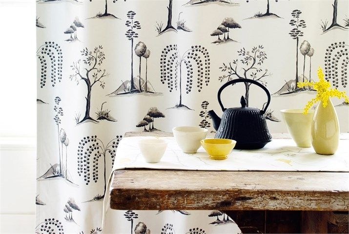 Chika Fabric Collection (source Sanderson) Fabric Wallpaper Australia / The Ivory Tower
