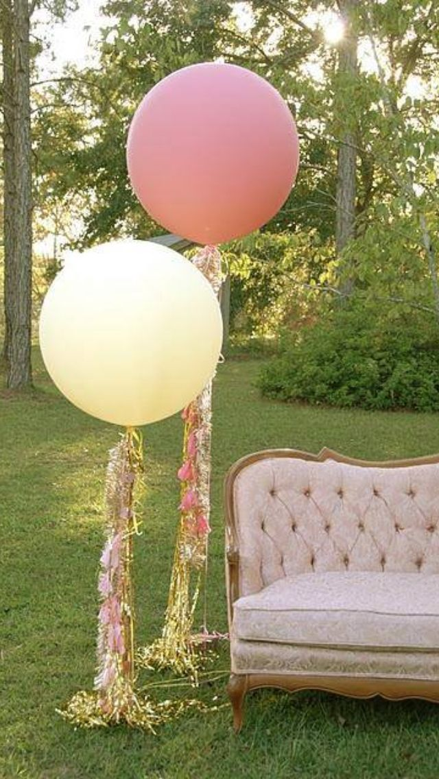 XL balloons matte finish. Fringe and greenery added