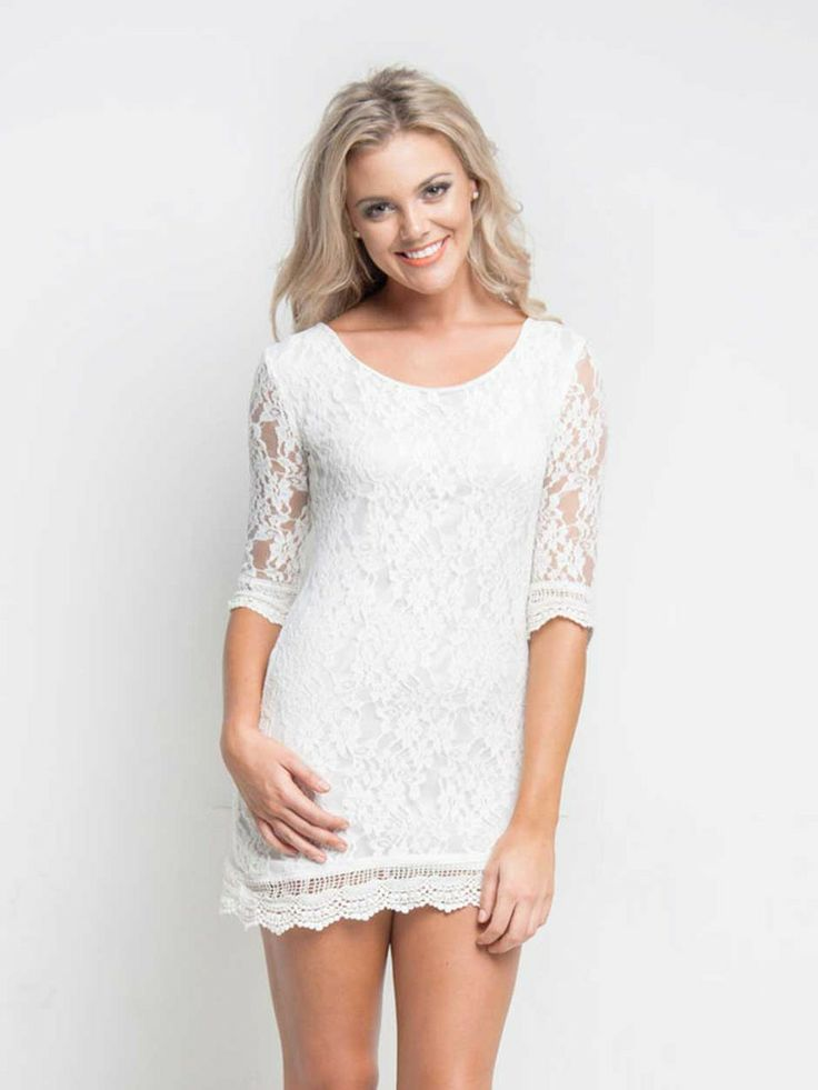 Laced In Time Dress – White – SODA online
