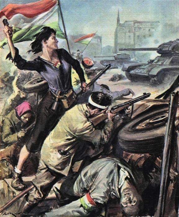 Molino, Walter (b,1915)- Hungarian Revolution- 'La Domenica del Corriere', 1956