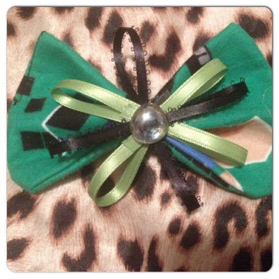 Minecraft BOW hair accessories or for pet on Etsy, $5.00 CAD