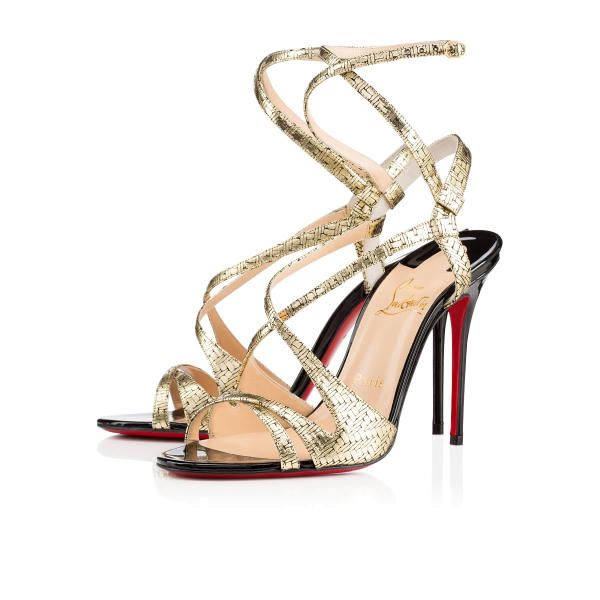 Christian Louboutin Audrey 100mm Champagne Leather Women Special-Occasion