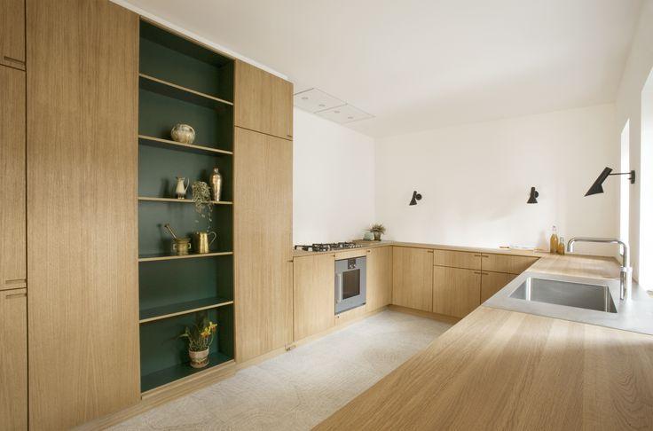 Scandinavian bespoke-kitchen build entirely in oakwood.