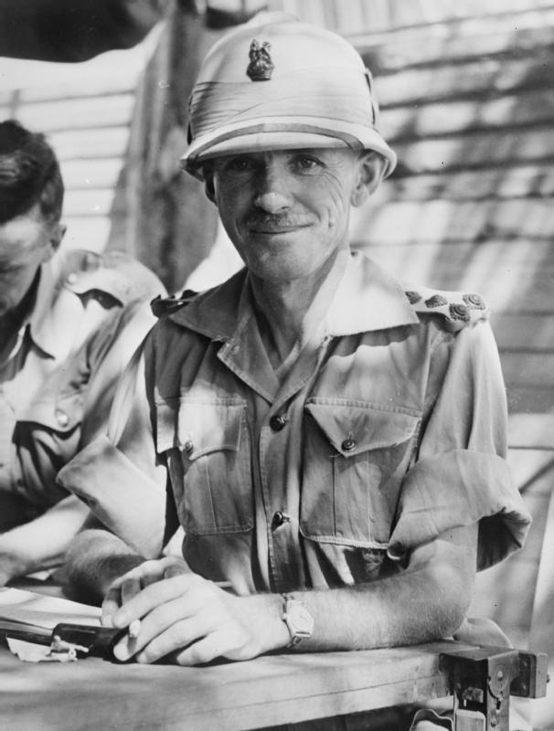 SOUTH AFRICAN FORCES IN EAST AFRICA DURING THE SECOND WORLD WAR. Brigadier Dan Pienaar, commanding South African Forces in East Africa.