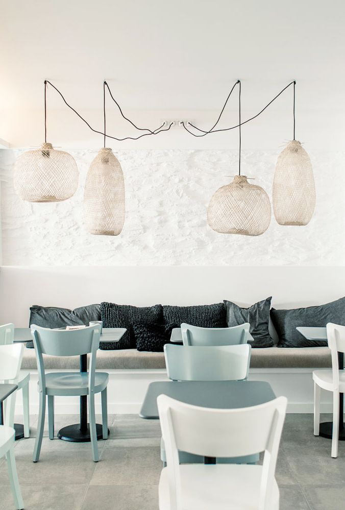 find this pin and more on cafe lifestyle by genevieveadlp - Blue Cafe Decorating