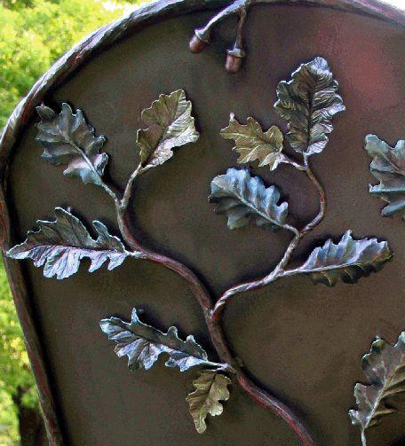 дубовый лист, стул, кованая мебель, стул патио