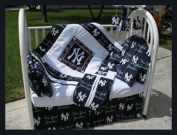 new york yankees baby blanket | NEW baby crib bedding set in NEW YORK NY by KustomKidsBedding