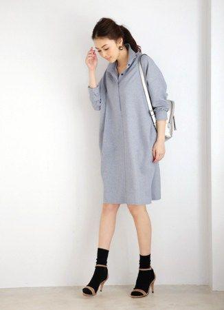1枚でさらりと合わせ、重ね着していく <オーバーサイズのシャツ秋冬ファッション>