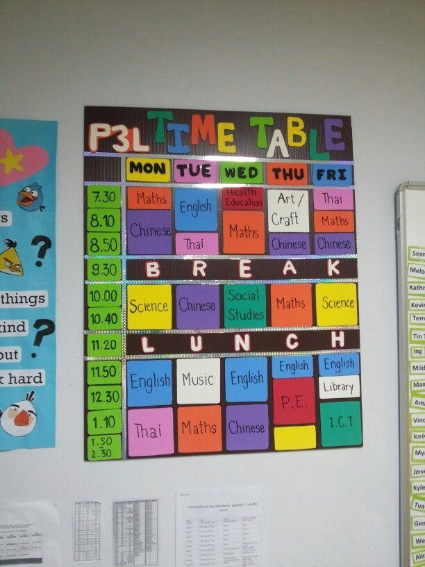 classroom timetable display