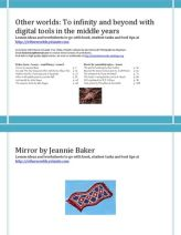 Lesson Plans using Mirror by Jeannie Baker