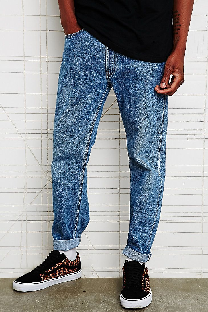 Duke men s strong buckle jeans cargo amp trouser rawhide leather belt - Urban Outfitters Vintage Renewal Levi S 501 Jeans In Blue 59