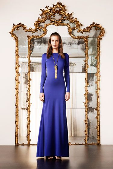 Fall trends are all about deep blues. Dreamy. [Harper's BAZAAR]