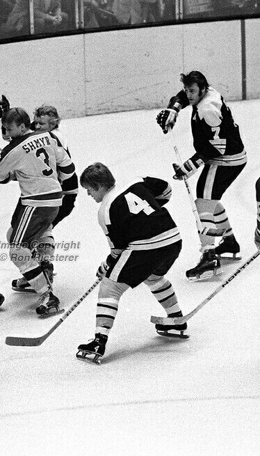 Bobby Orr with Pie McKenzie and Phil Esposito