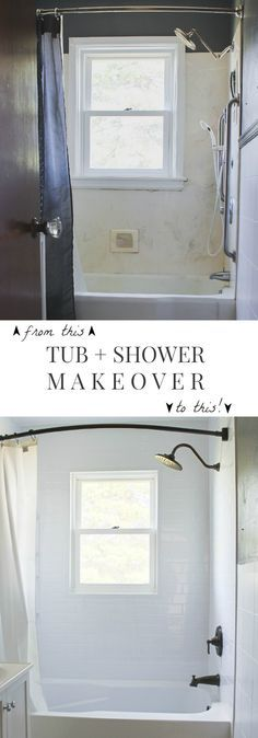 Follow along the makeover of this old farmhouse bathroom! This week, the tub and shower get a fresh, new look by Bath Fitter! (via LoveGrowsWild.com)
