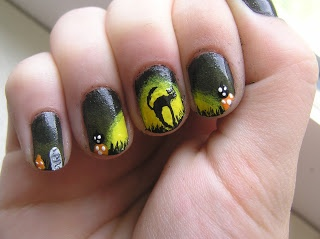 simply nails by brooklyn also made this black cat nail art