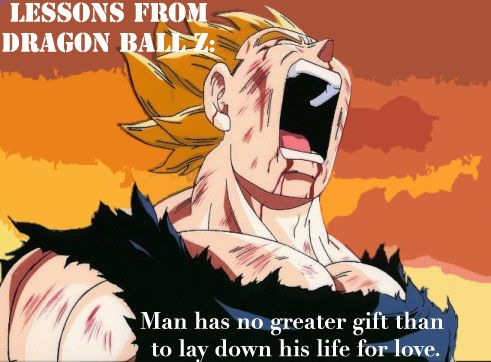 The theme of self sacrifice throughout Dragon Ball Z is everywhere. From Goku giving up his life to defeat Raditz, Piccolo giving his life for Gohan, all of the Z fighters who were killed by Vegeta and Nappa, Tien nearly giving up his life to give the androids time to run, and so on. All of these brave warriors knew what it took in order to save the ones they cared about it and they made the ultimate sacrifice.