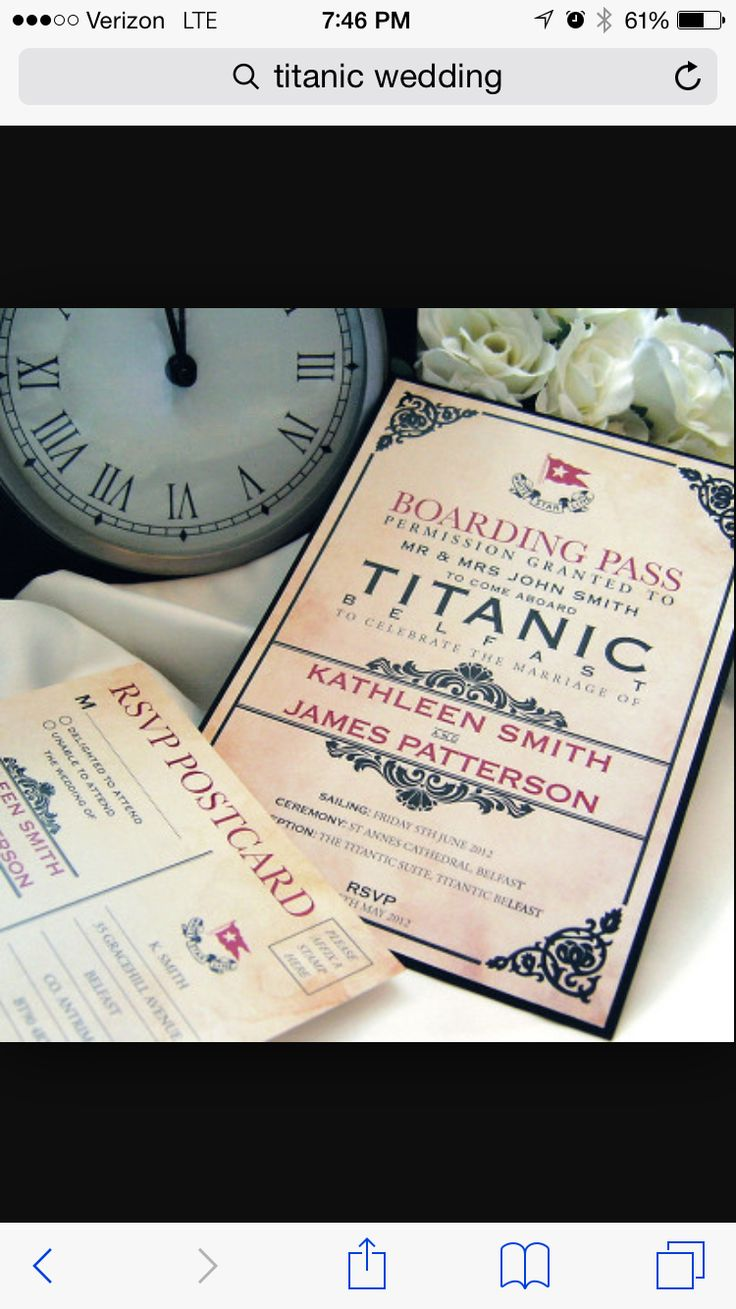 Titanic themed wedding