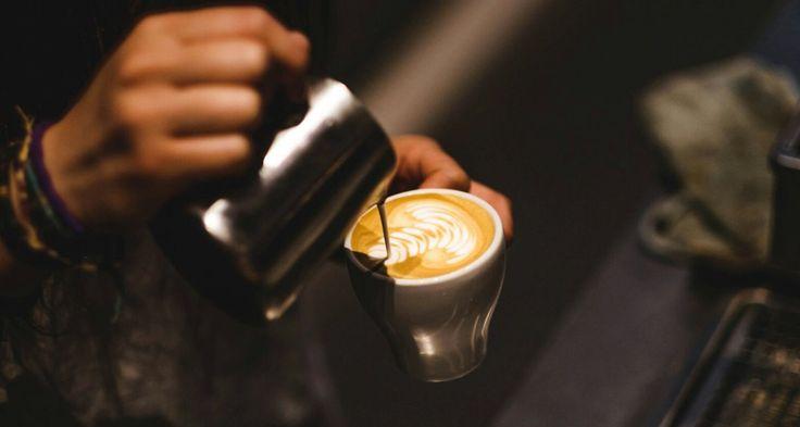 Latte art in action