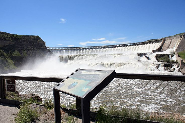 "Ryan Dam in Great Falls Montana. The ""Great Falls"" found by Lewis and Clark."