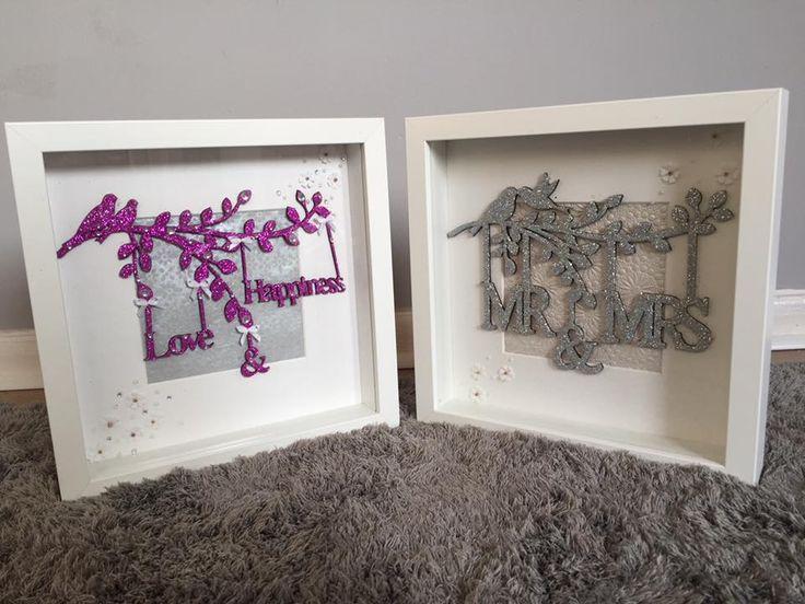Unique glitter handmade frames