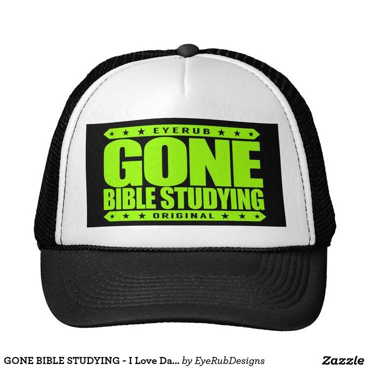 GONE BIBLE STUDYING - I Love Daily Gospel Reading Trucker Hat, Neon Lime Green Design - #pope #vatican #holyfather #bibleverses #scripture #religion #god #bible #jesus #jesuschrist #catholic #christian #church #prayer #faith #biblestudy