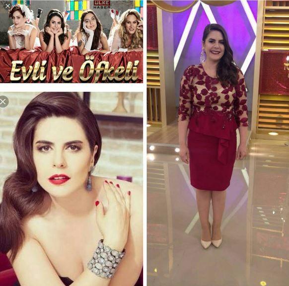 Evli ve Öfkeli dizisinde Dilek karakterini canlandıran Ayça Erturan, Alchera elbisesiyle.  #Alchera #aycaerturan #atv #evliveöfkeli