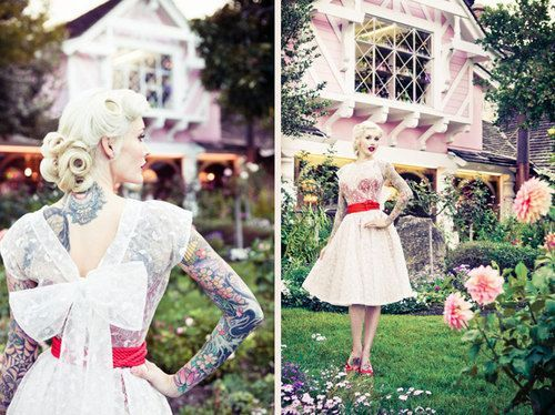 Rock n Roll Bride · Thursday Treats – 24th March 2011  her hair is TDF