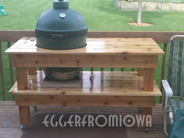 Cedar Table Build Plans for a Big Green Egg Grill