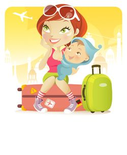 Airplane Kit for Babies and Toddlers - A printable checklist for what to pack when traveling with a baby or toddler by plane. @RachEngraf....you need this!