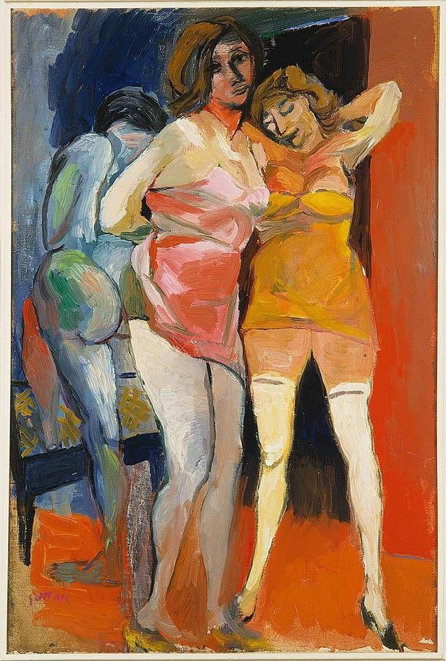 Scantily-dressed Women, ca 1940, Renato Guttuso. Italian (1911 - 1987)