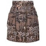 Printed zipped A-shaped leopard skirt 858 PLN