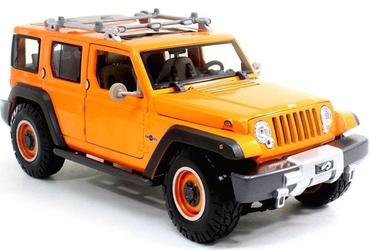 Maisto Jeep Rescue Concept 1 18 Diecast Model Car Orange