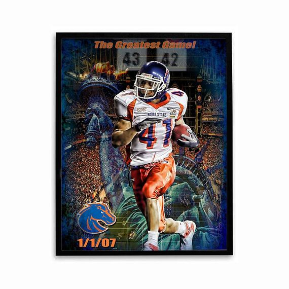 Boise State Football Poster Greatest Game by SportPostersUSA, $8.95