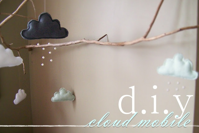 Needle and Nest Design: d.i.y  cloud mobile