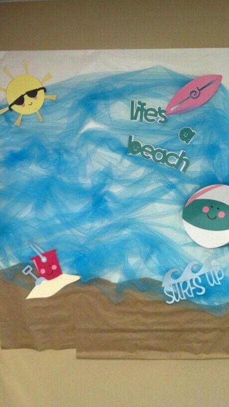 Beach bulletin board