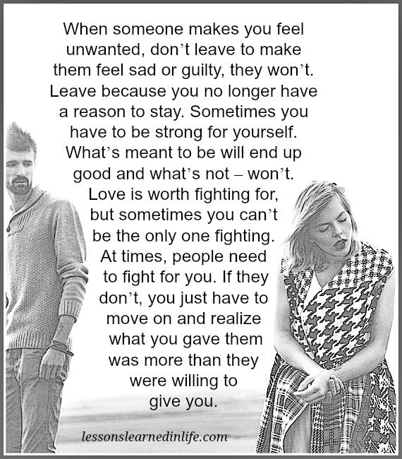 Lessons Learned in Life | Feeling unwanted.