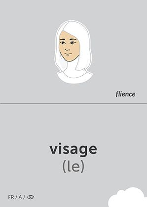 Visage #CardFly #flience #human #french #education #flashcard #language