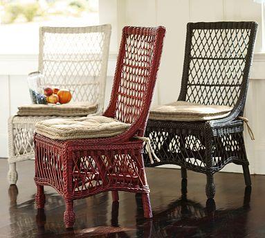 Delaney Rattan Dining Chair #potterybarn