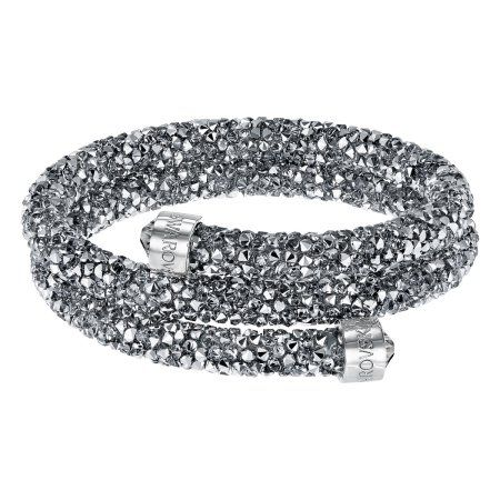 Swarovski Crystaldust Bangle Double - Gray - 5255898, Women's