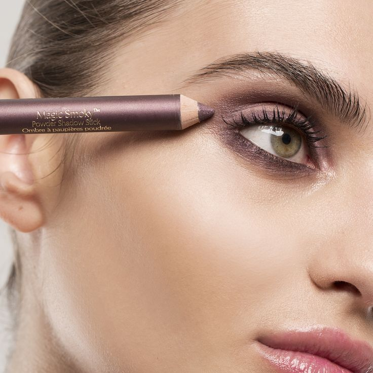 Your look for this weekend: the plum smoky eye. Get the look with Double Wear Eyeliner in Burgundy Suede, Magic Smoky Shadow Stick in Charred Plum, and Sumptuous Extreme Mascara.