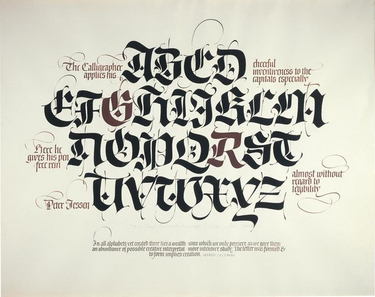 55 best Calligraphy images on Pinterest Hand type, Typography and - best of example letter semi block style
