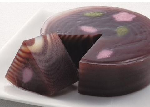 Japanese sweets, sakua jelly