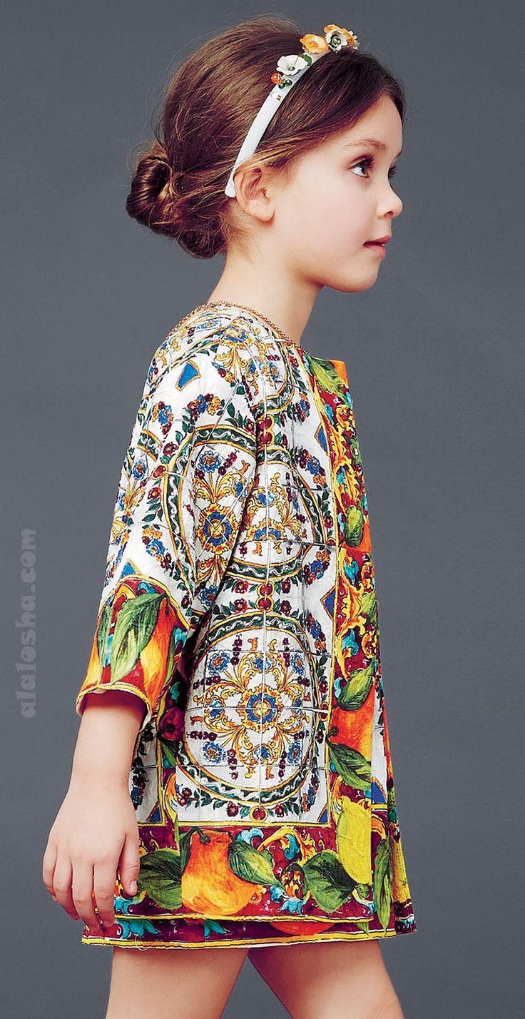 ALALOSHA: VOGUE ENFANTS: Dolce & Gabbana luxury girlswear FW'15